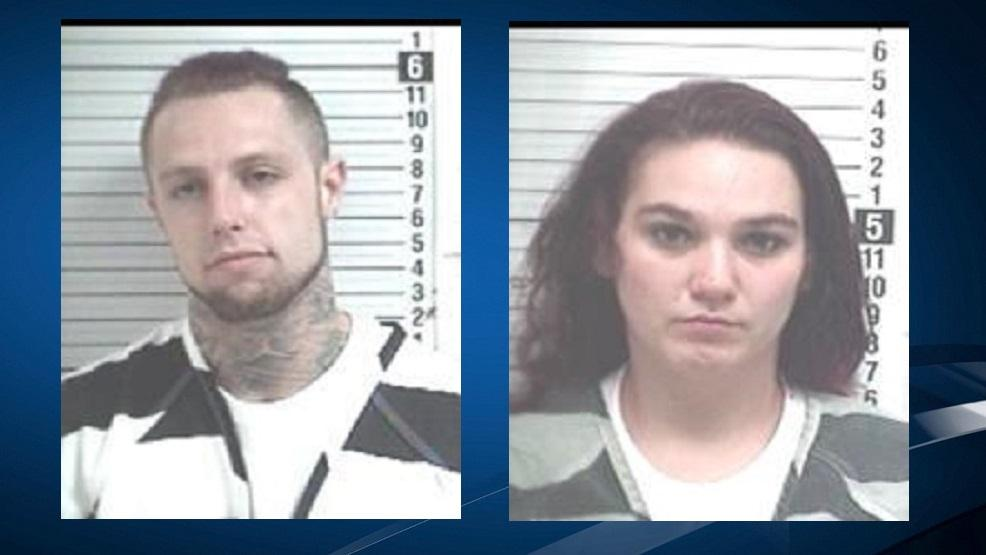 Randy McMillin and Jordyn Freeman were arrested after IHOP workers say they found a naked toddler wandering around the parking lot, and then found the couple passed out in a van (Courtesy: Bay County Jail)<p></p>