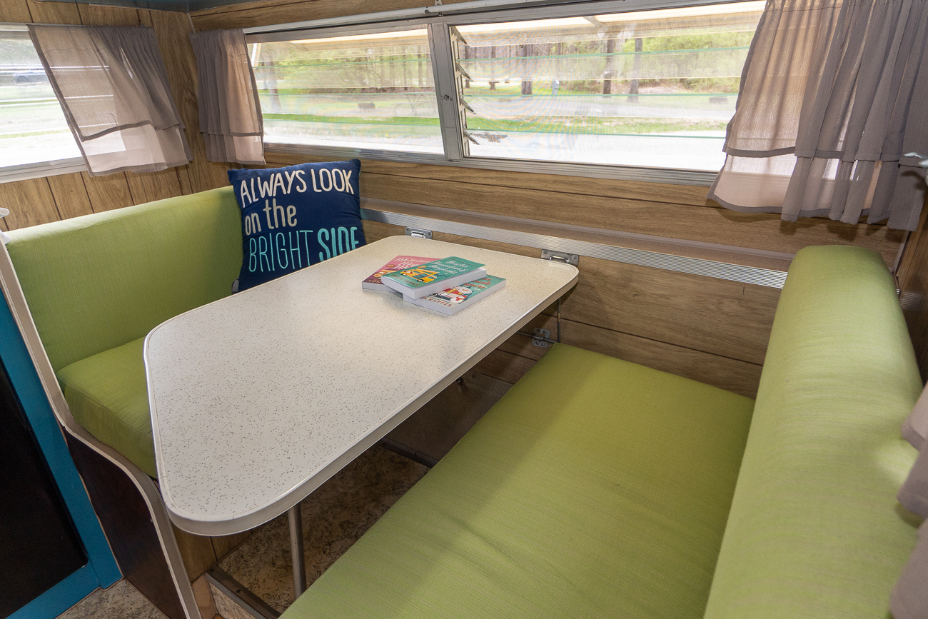 CAMPER: 1969 Aristocrat Lo-Liner / SLEEPS: Up to 4 / PRICE: $90 per night + $75 cleaning fee / Image: Josh Purnell // Published: 5.12.19