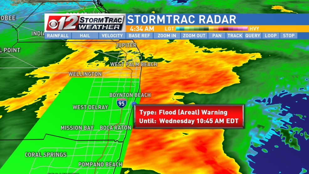 Flood Warning in effect for parts of Palm Beach County WPEC