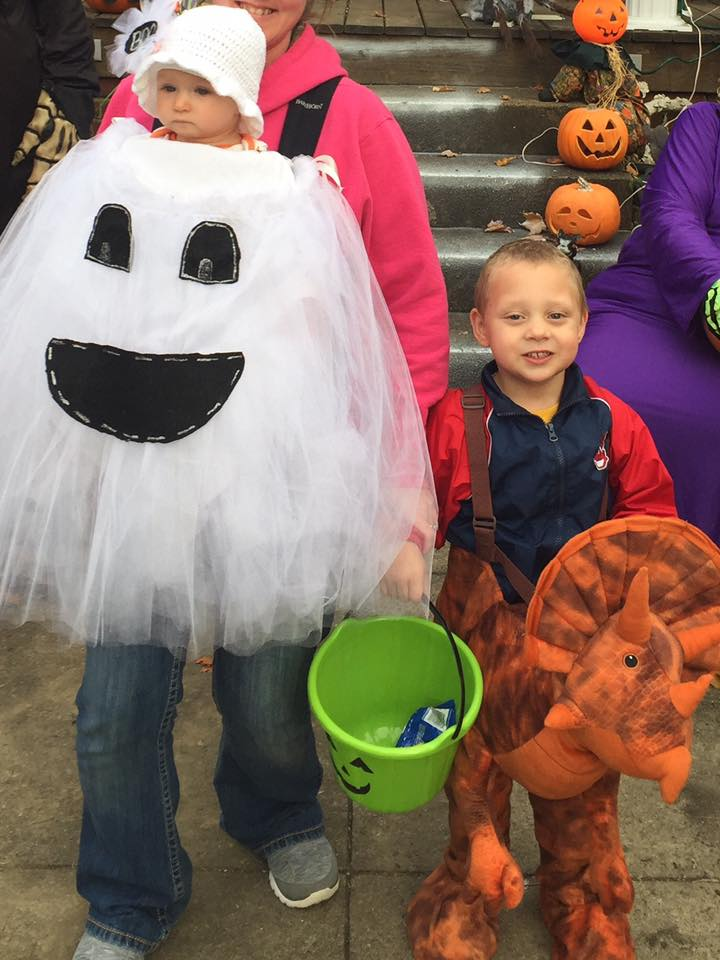 Ghost and dinosaur. Submitted by Jennifer Deitrich