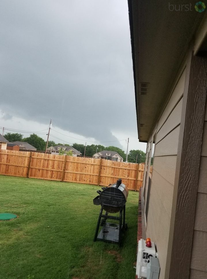 Joy Smith shares this picture of a funnel cloud lowering, taken around Highway 20. (KTUL)