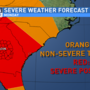 SATURDAY EVENING UPDATE: Severe storms expected Monday