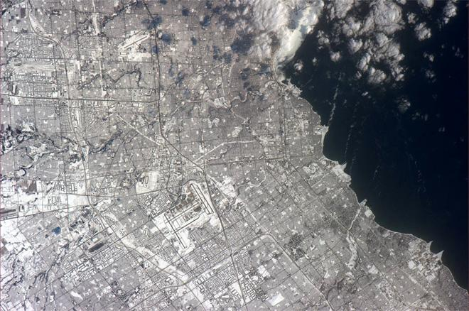 Looked like Buffalo, NY digging out of the snow, but I am told this is Toronto, Ontario in Canada! (Photo & Caption: Rick Mastracchio, NASA)