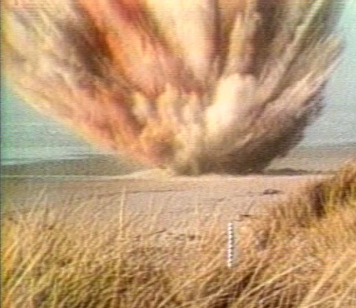 As the camera rolled, the dynamite went off. Bits of blubber rained down all over the beach and bystanders. A large chunk nearly destroyed a car. Crews then spent days burying all of the blubber on the beach.