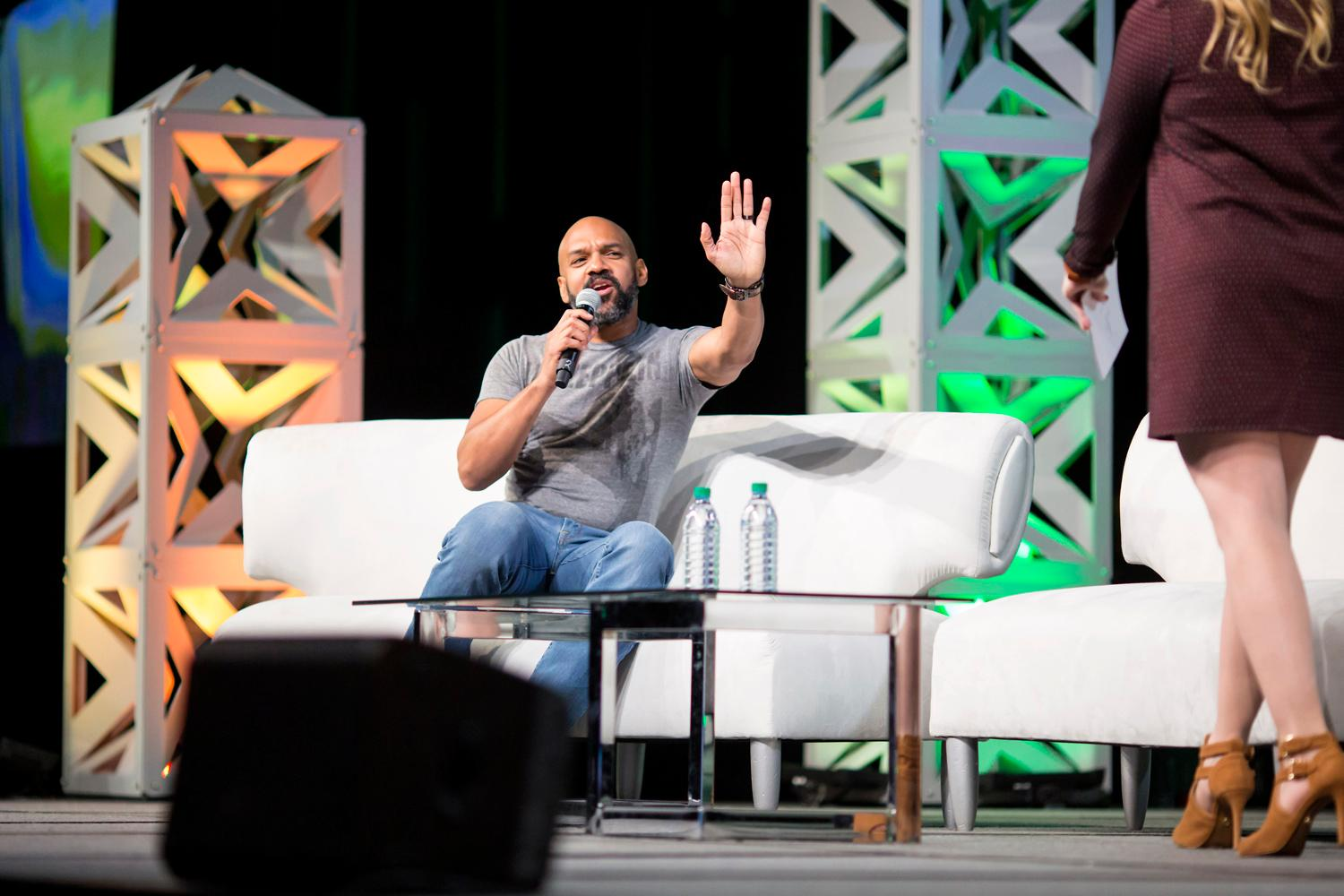 WOW! It's day one of the 2018 Emerald City Comic Con it delivered amazing (as per usual) cosplay! Thousands of attendees came out to buy merchandise, people watch, and see the guest panelists, with a highlight from Khary Payton from the Walking Dead! (Sy Bean / Seattle Refined).