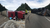 Police: Trucker high on meth crashed, spilling lumber and closing I-5