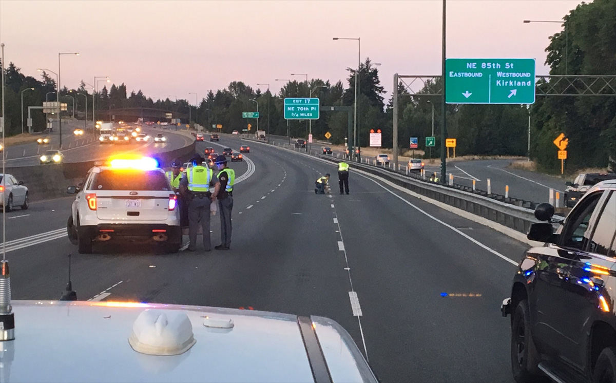 Man killed after falling from sunroof of car on interstate; driver missing Monday, July 17, 2017. (KOMO)