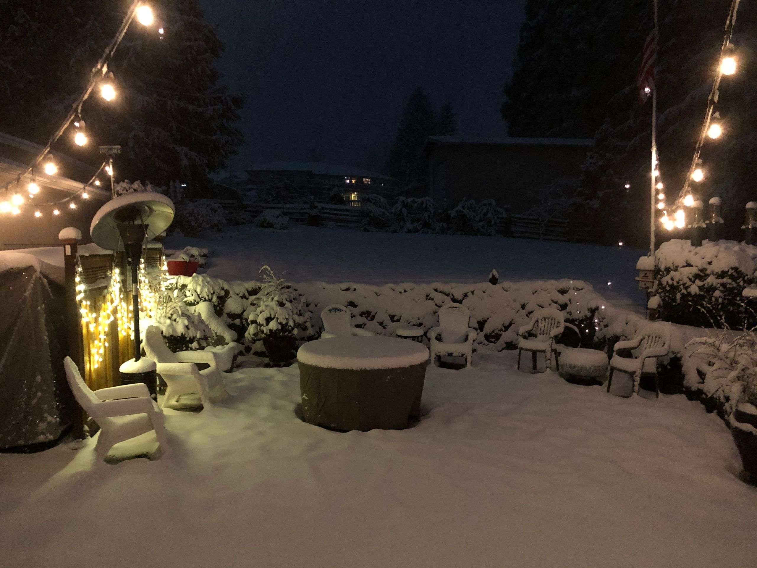Snow in Port Angeles (Image: Gary and Jam Holmquist / Chime In)