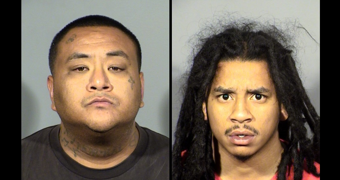 Samuel Kealoha Keli Roaque and Immanuel Tre Collins have been identified as two of the suspects in a violent home invasion of an elderly couple. (LVMPD/KSNV)