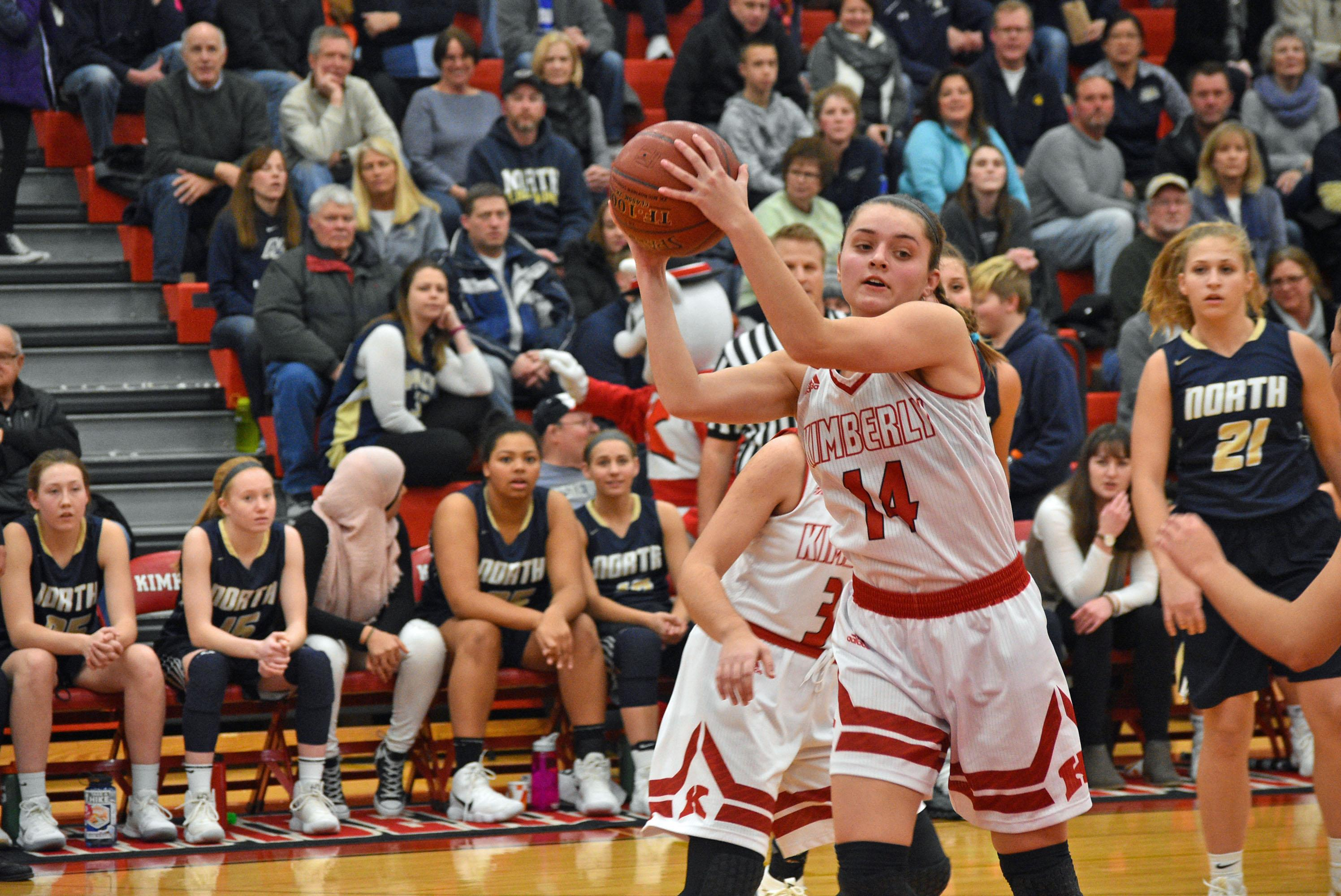 Appleton North defeated Kimberly, 55-48, in a girls basketball game Friday. (Doug Ritchay/WLUK)