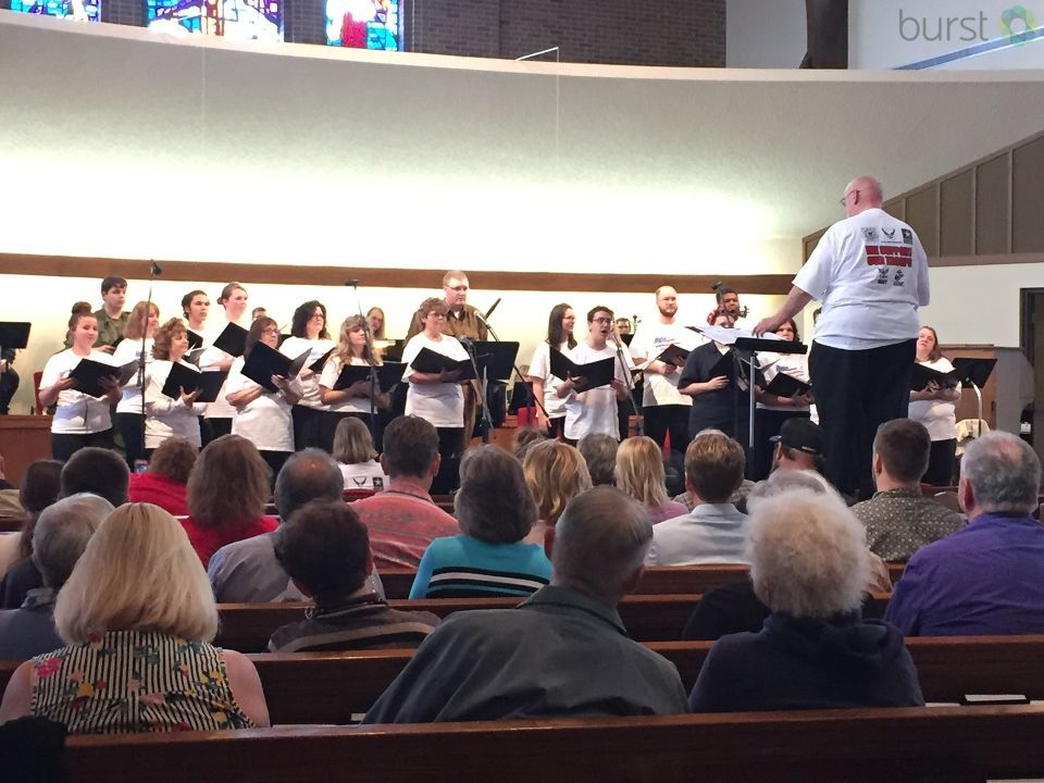 In honor of Armed Forces Day today, members of the Calvary Presbyterian Church in Genesee Township hosted a concert. (Photo Credit: Sarah Jaeger)