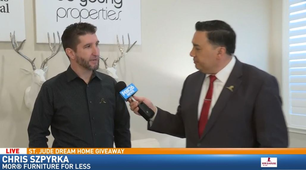 Justin Willis with Chris Szpyrka of Mor Furniture for Less