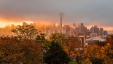 PHOTOS: Foggy fall sunrise greets Puget Sound region Saturday