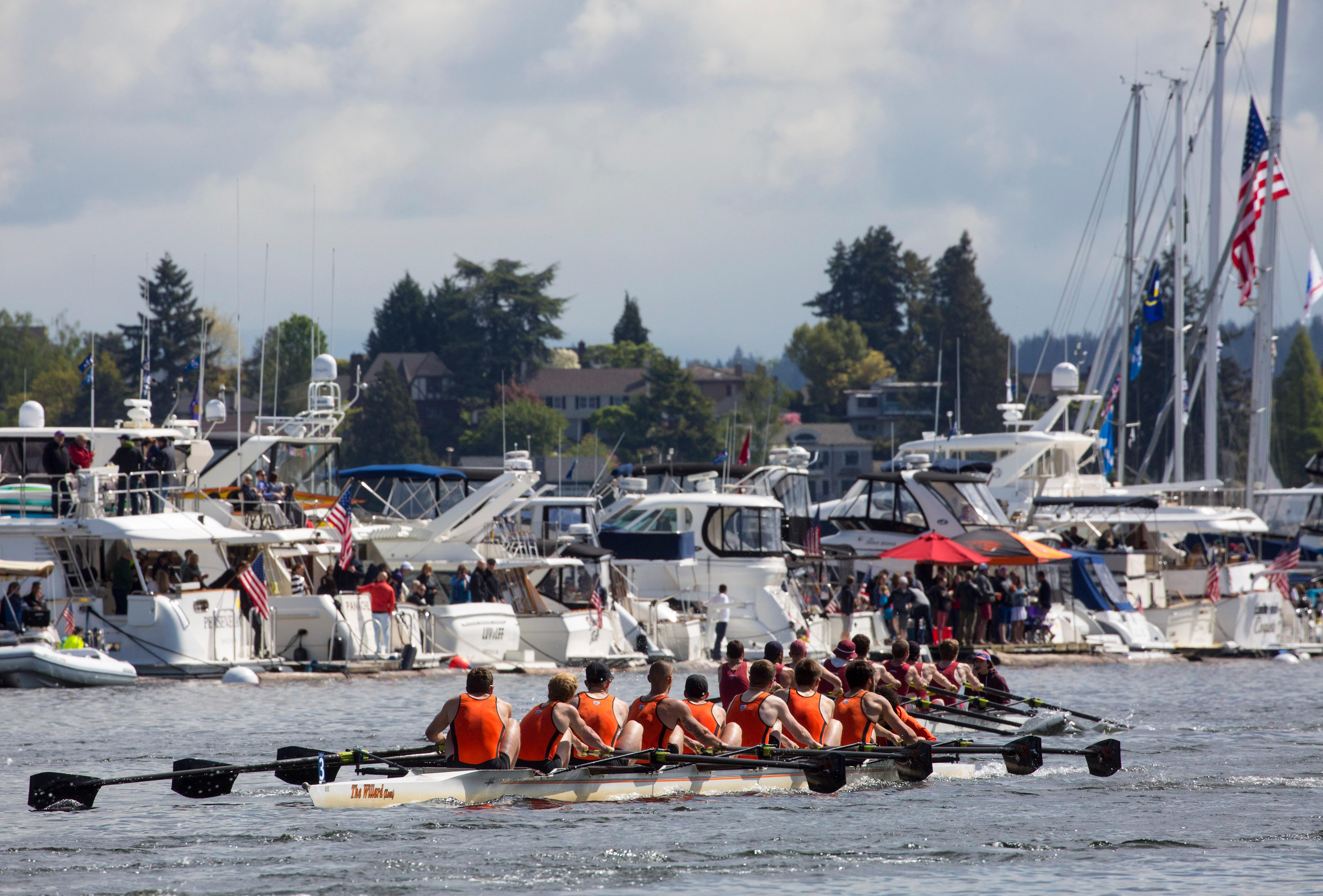 Seattle Yacht Club Opening Day is always the first Saturday in May, and marked with by the Windermere Cup crew races, sailboat races and the Opening Day Parade. It's easily become the nation's largest regional celebration of water, spring and the opening of boating season. (Image: Sy Bean / Seattle Refined)