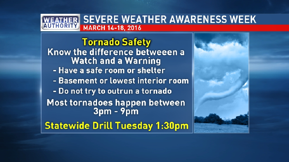 Severe Weather Awareness Week 2016 Tornado Safety News