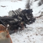 Passing semi truck clips snow plow sending driver careening 300 feet down canyon