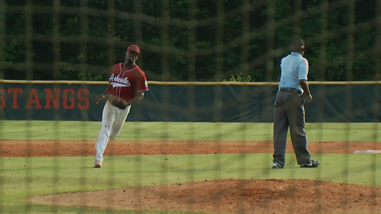 It's been three years since the Asheville Post 70 baseball team has made it to the second round of the American Legion Playoffs. The Cardinals have done it again this year, thanks to a new head coach and a star pitcher. (Photo credit: WLOS Staff)