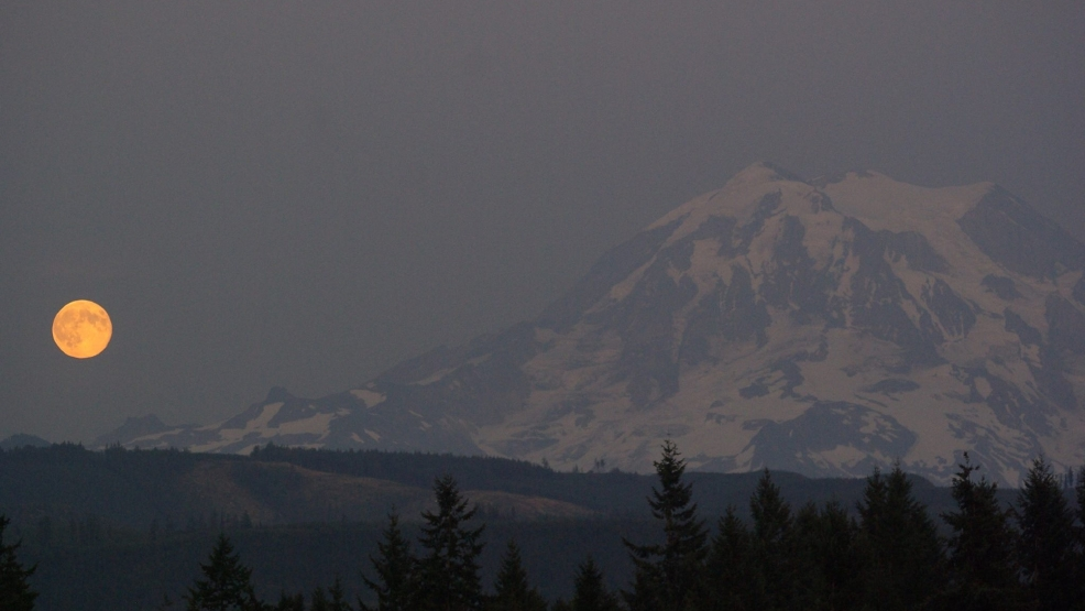 Photos: 'Super Moon' looms large over Western Washington