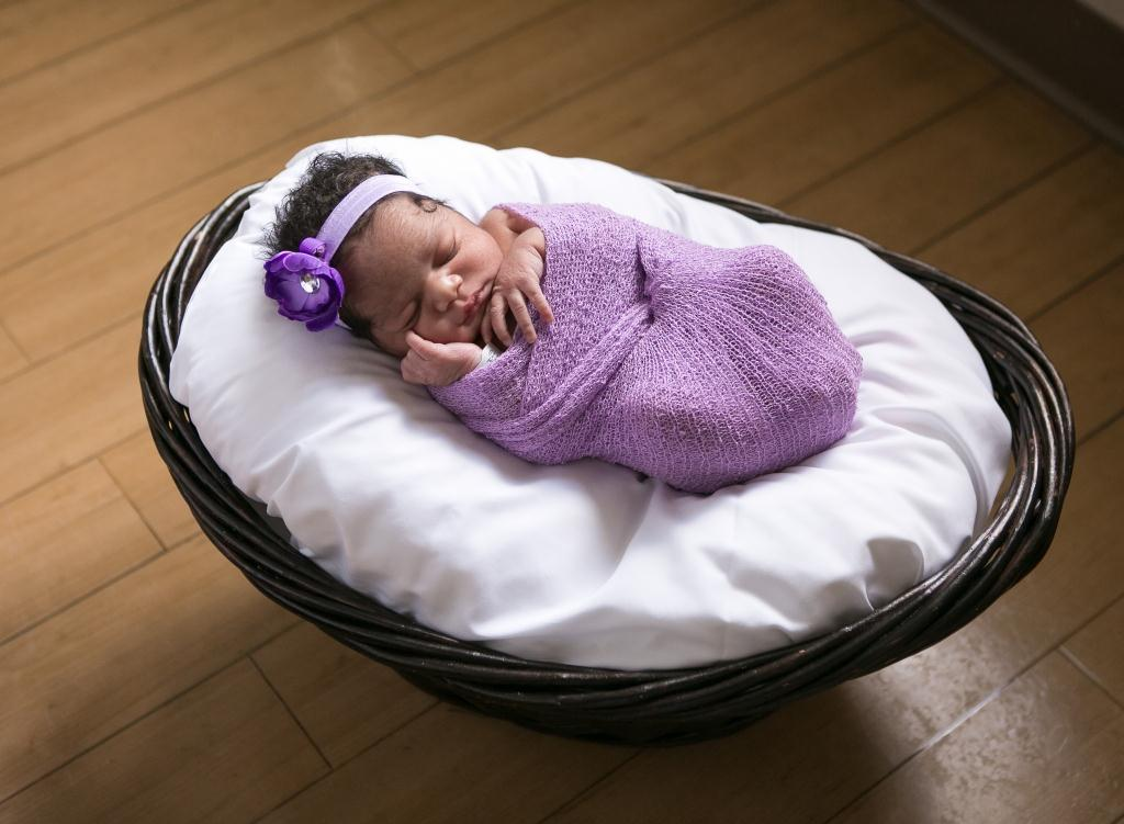 Shekaylen, our Baby of the Day for February 15, 2016. Photo courtesy of Palms West Hospital and Bella Baby Photography