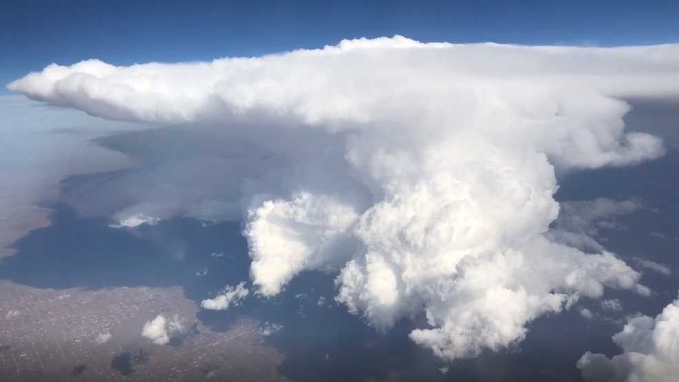 Inside the Storm: Aerial video of a strong thunderstorm moving into West Texas