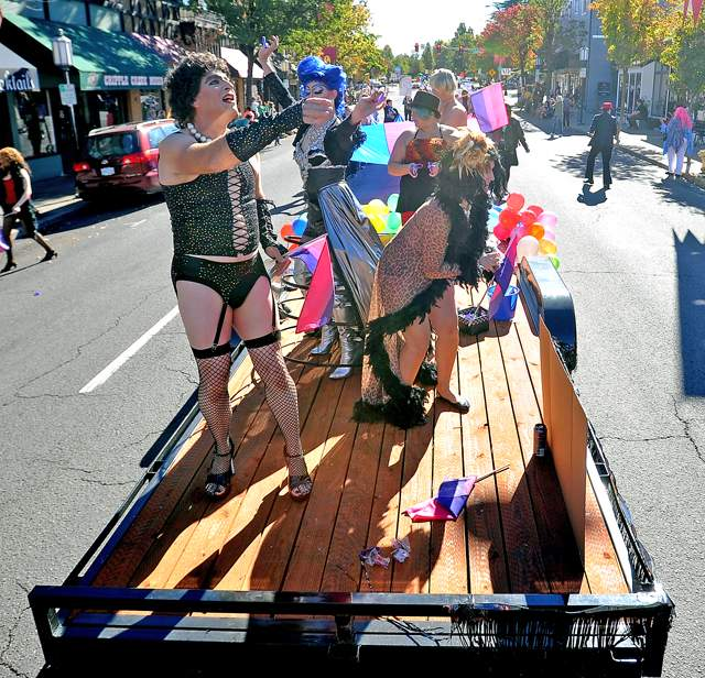 The Gay Pride Parade is held in Ashland on Saturday. Mail Tribune / Jamie Lusch - Jamie Lusch