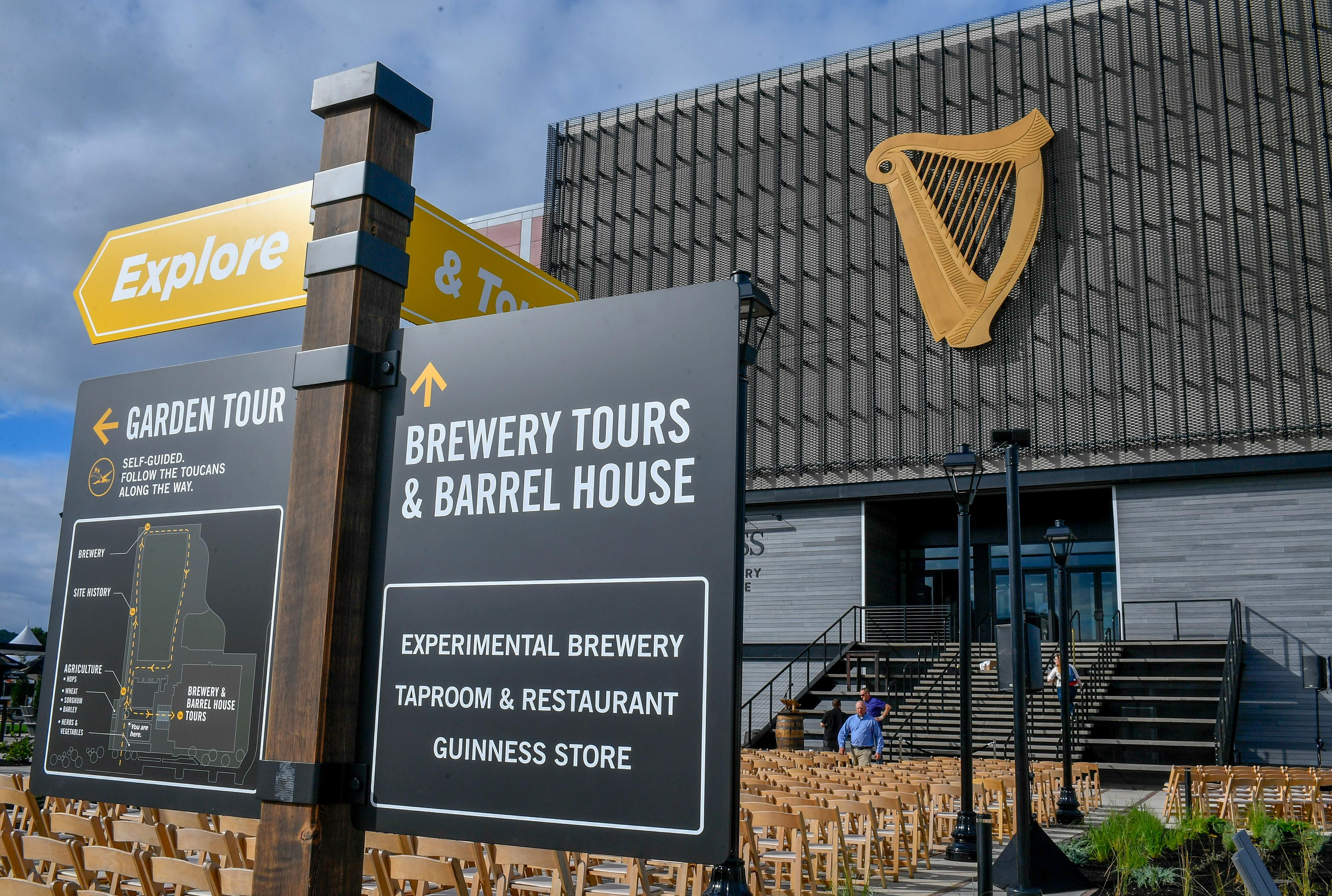 The { }Guinness Open Gate Brewery & Barrel House features tours, a tavern and a restaurant. (Image: Larry French/Getty Images for Guinness)
