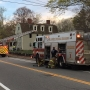 People escape safely from a burning home in Warwick
