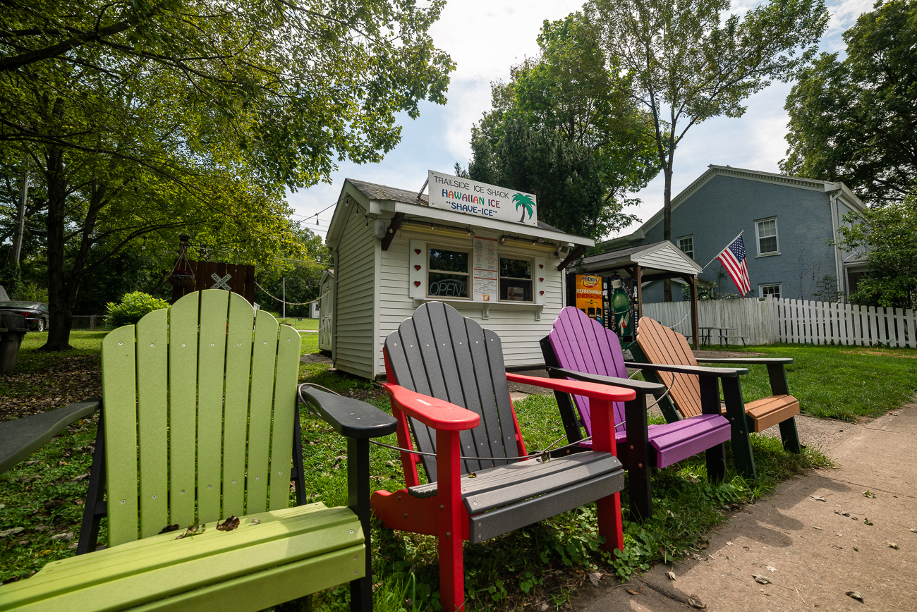 What goes better with warm weather than shaved ice.  The Trailside Ice Shack is a great spot just off the river in Loveland to grab soft serve, candy, snacks or shaved ice. ADDRESS:{ }230 Railroad Avenue (45240) / Image: Allen Meyer // Published: 9.7.18