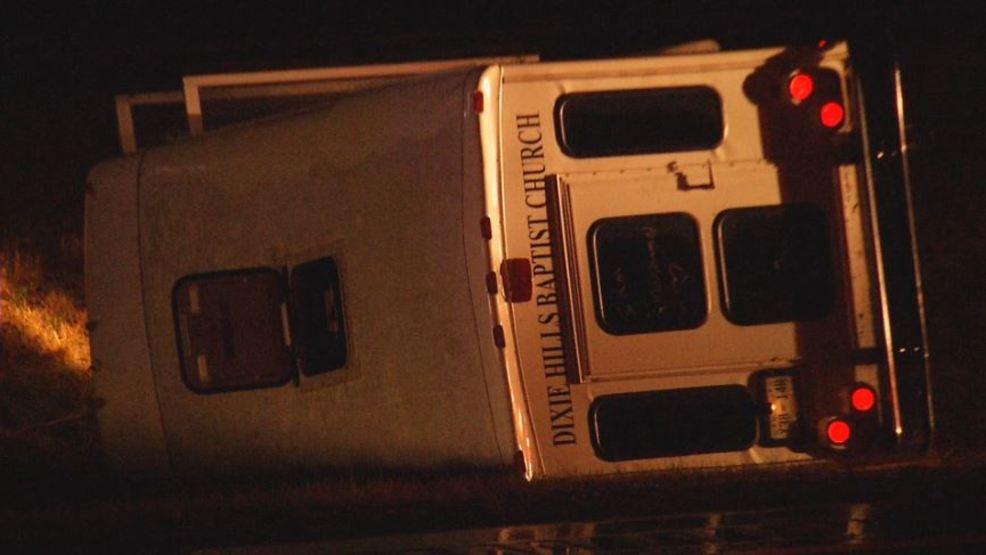 Eight west Tennessee juveniles injured in church bus crash