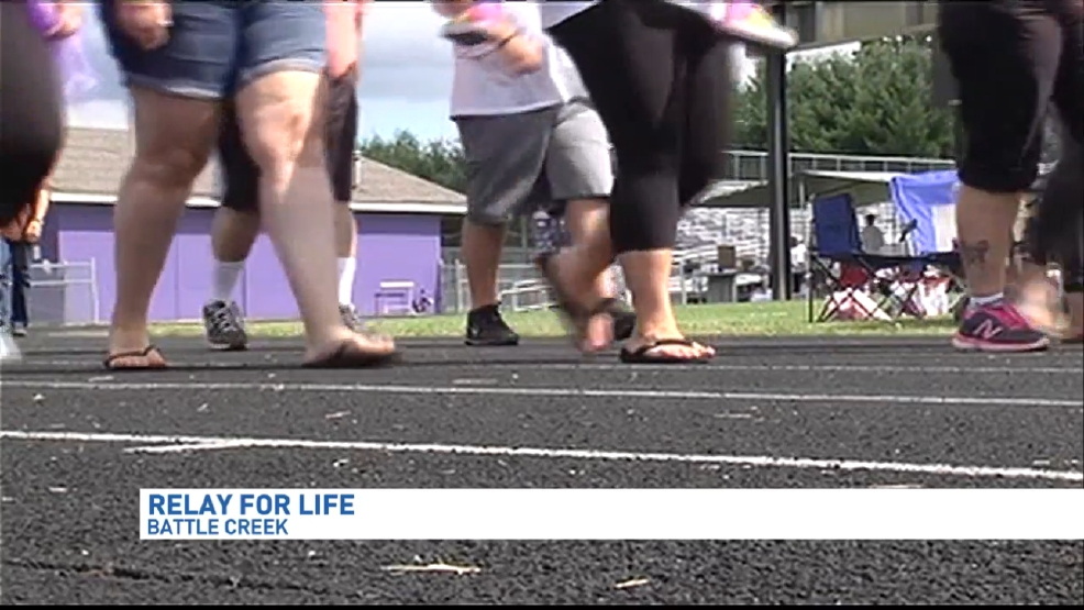 Relay for Life in Battle Creek at the Lakeview High School   WWMT