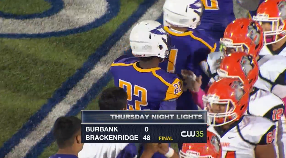 Brackenridge pummels Burbank at Alamo Stadium, 48-0