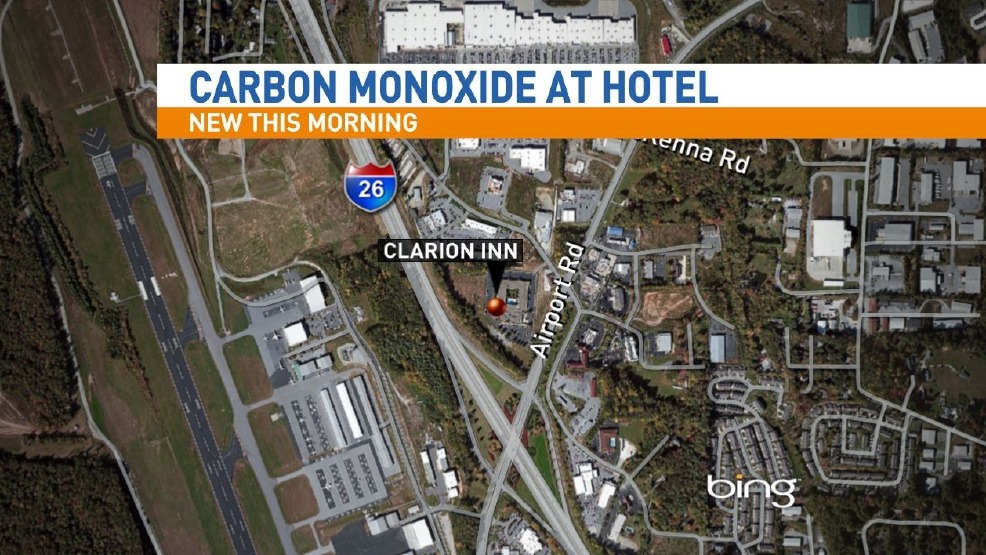 hotel near asheville airport evacuated due to carbon. Black Bedroom Furniture Sets. Home Design Ideas