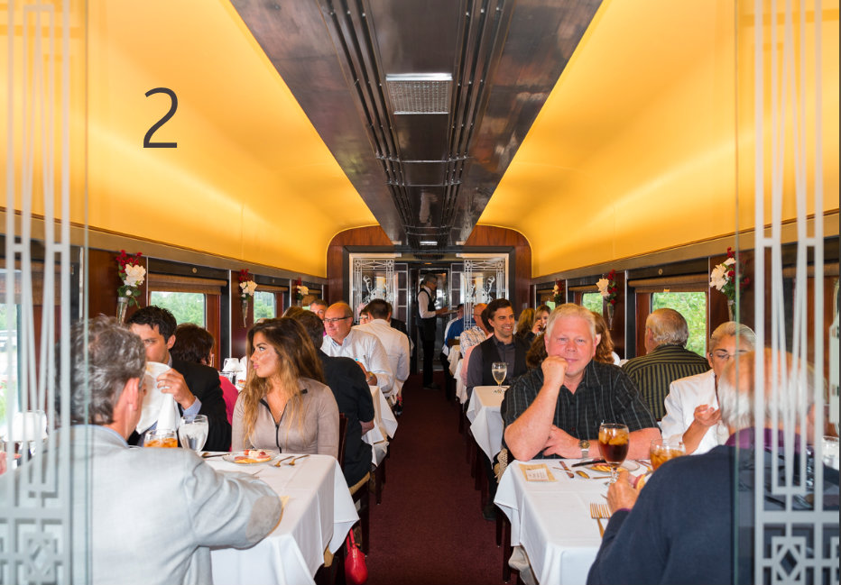 #2 - Step back into the 1940s with a ride aboard the Cincinnati Dinner Train. / Image: Sherry Hopkins