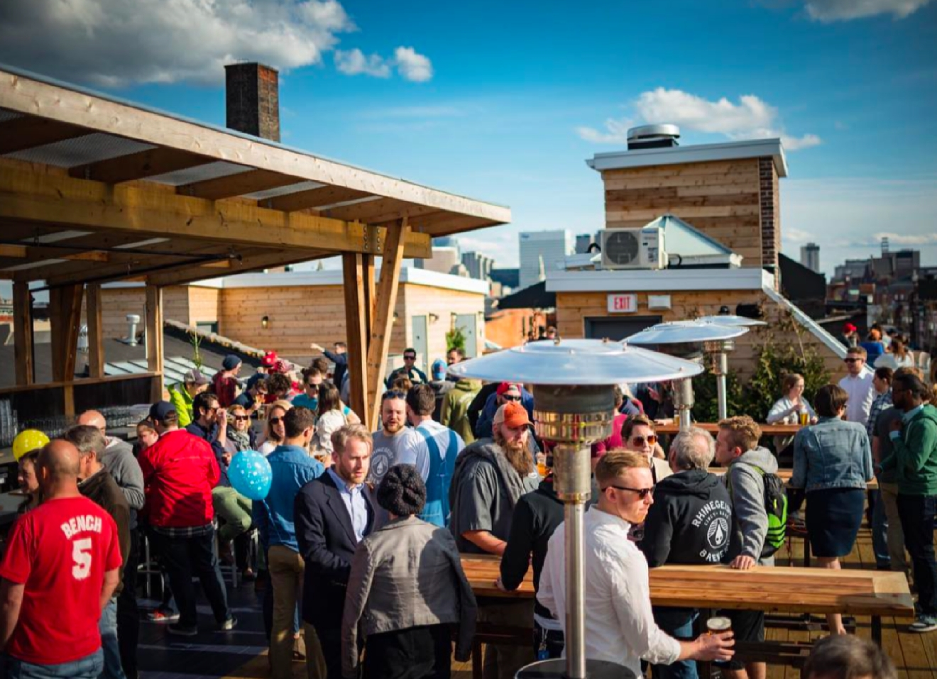 Rhinegeist's Rooftop Bar -- located in Over-the-Rhine at 1910 Elm Street (45202). / Image courtesy of Rhinegeist Brewery