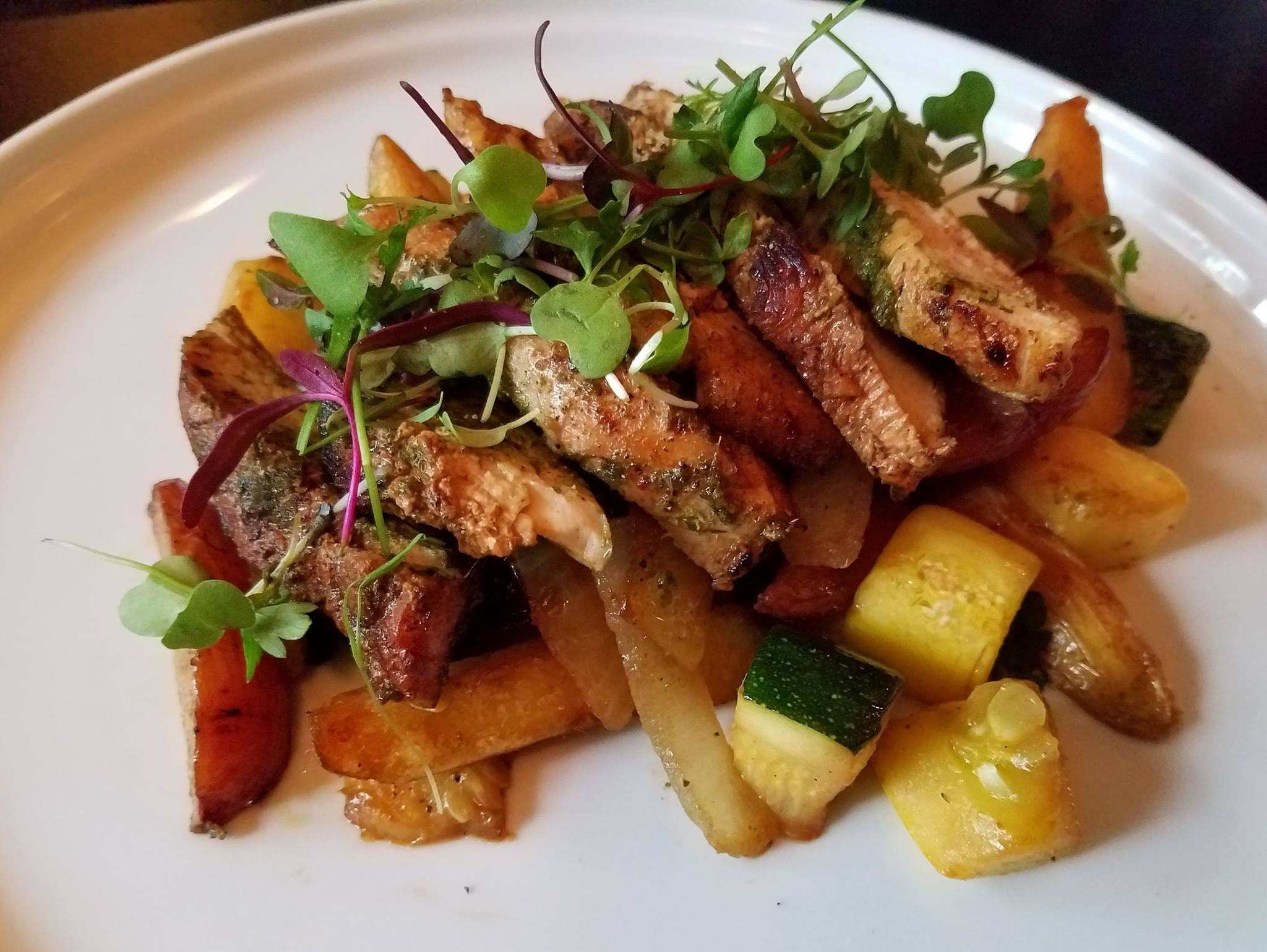 The Camano Island Waterfront Inn where chef Dylan Alexander crafts feasts from local farms is a delight for dinner. (Image: Camano Island Waterfront Inn Facebook){&amp;nbsp;}<p></p>