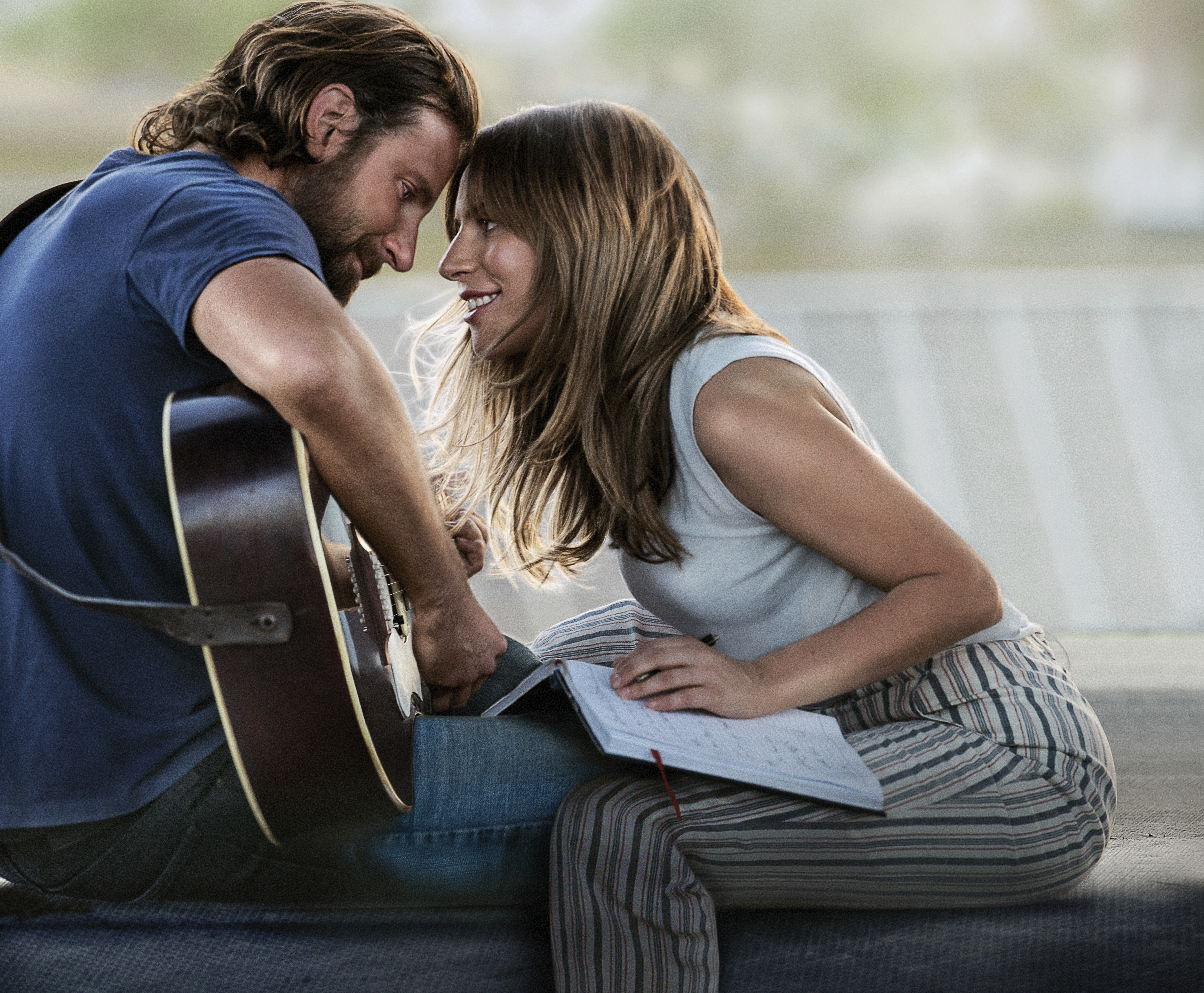 "This image released by Warner Bros. Pictures shows Bradley Cooper, left, and Lady Gaga in a scene from ""A Star is Born."" The cast was nominated for a SAG Award for best ensemble. (Warner Bros. Pictures via AP)"