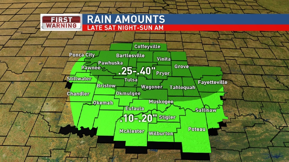 Rain late Saturday, early Sunday