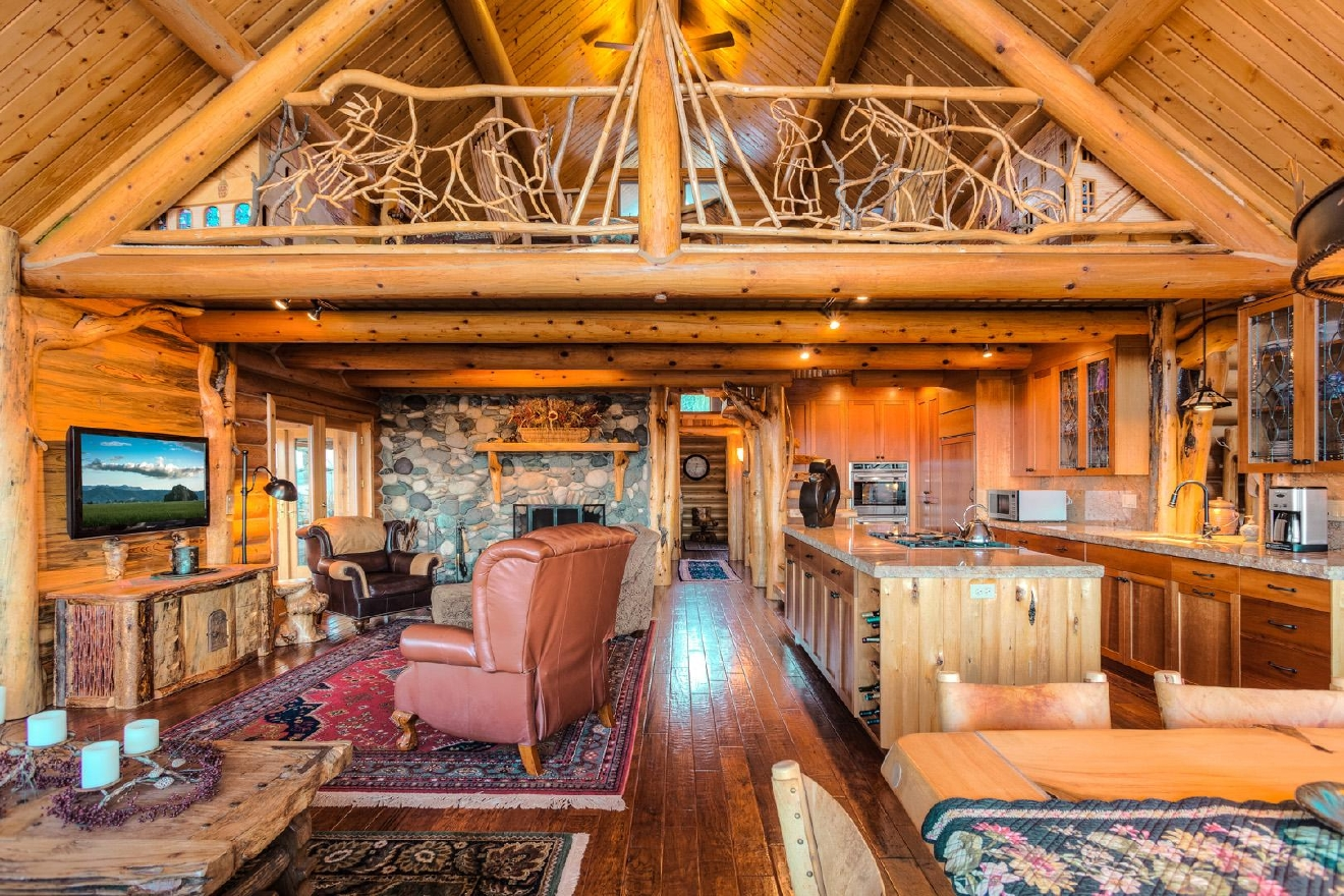 Unique White Horse Ranch is a true hobby ranch for those looking for the perfect retreat. Artistically designed Log Home with superb finishes throughout has 2 main floor master suites, loft, office and a separate bath. Enjoy the large outdoor living space with built-in barbecue, salt water pool and hot tub atop spectacular boundless views of the Salmon River and surrounding mountains. Amazing 177 forested acres all fenced, multiple pastures and miles of manicured trails, fully stocked man made lake, 3 springs with ponds. Information: 208-691-5750 http://bit.ly/1RPkAeW