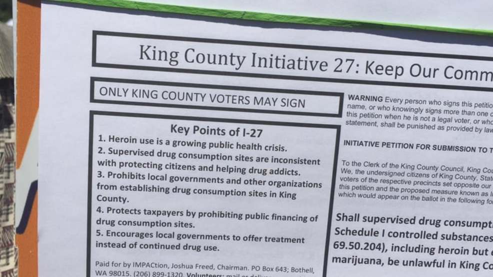 Legal battle intensifies over expected vote on Seattle heroin injection sites