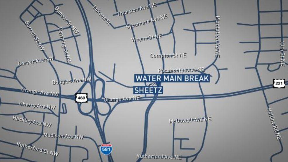 Roanoke water main break affecting traffic WSET