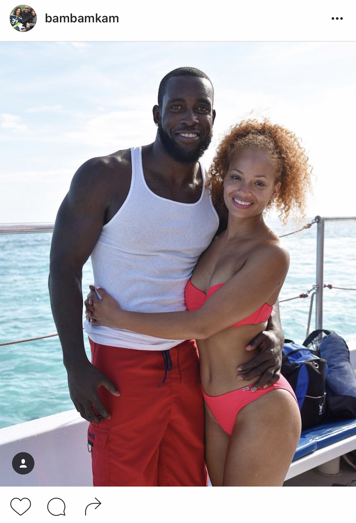 Bam Bam Kam Hawks safety Kam Chancellor is engaged