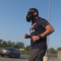 Gas mask-clad veteran runs across Iowa raising awareness of veteran suicide