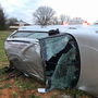Police: One person transported to hospital after car flips on side in Appomattox