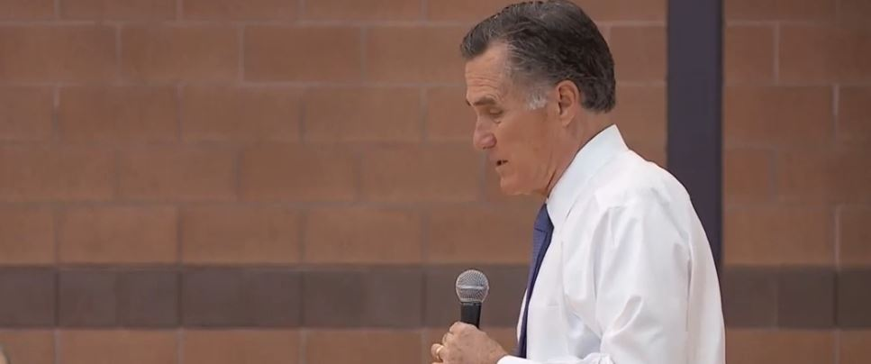 "Utah Sen. Mitt Romney (R) and Sen. Chris Murphy (D-CT) are headed over seas to meet with government officials in Jordan and Israel in hopes to ""maintain and strengthen our alliances."" (Photo: KUTV)"