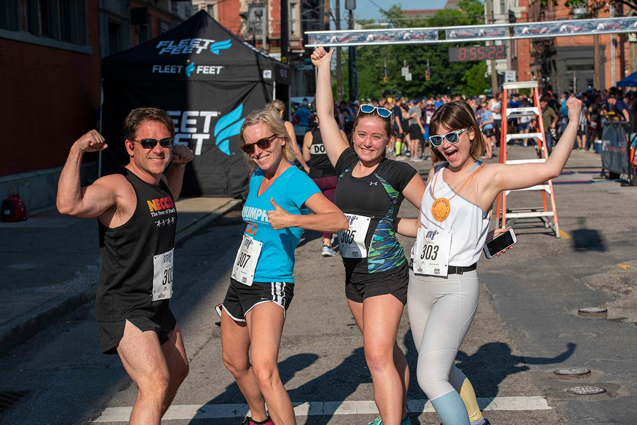 Racing for foster kids and adoption are Blare, Heather, Emma, and Sophia / Image: Joe Simon // Published: 5.19.19