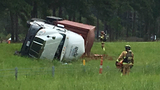 SCHP: I-26 west near exit 199 remains closed due to overturned truck, HAZMAT situation