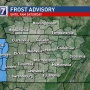Frost Advisory issued for some middle Tennessee counties