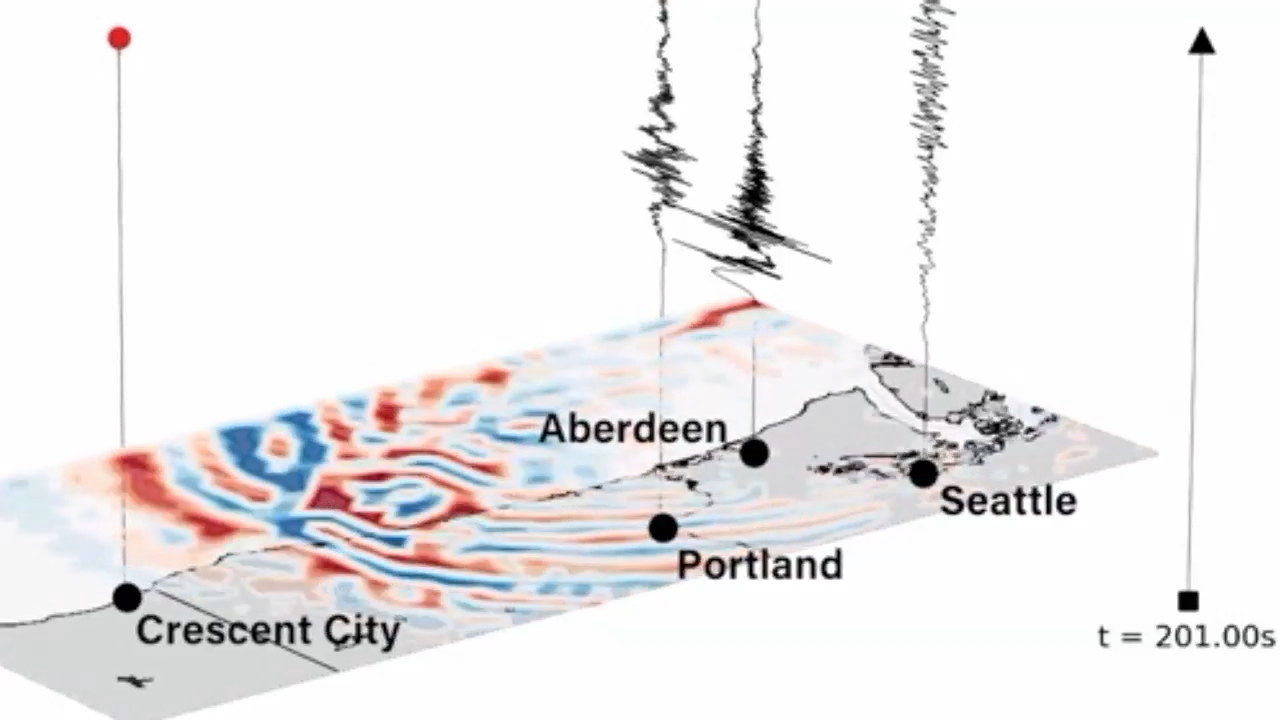 Researchers with the University of Washington have released new simulations revealing the best and worst places to be when a possible 9.0 earthquake hits. (Photo: USGS simulator)<p></p>