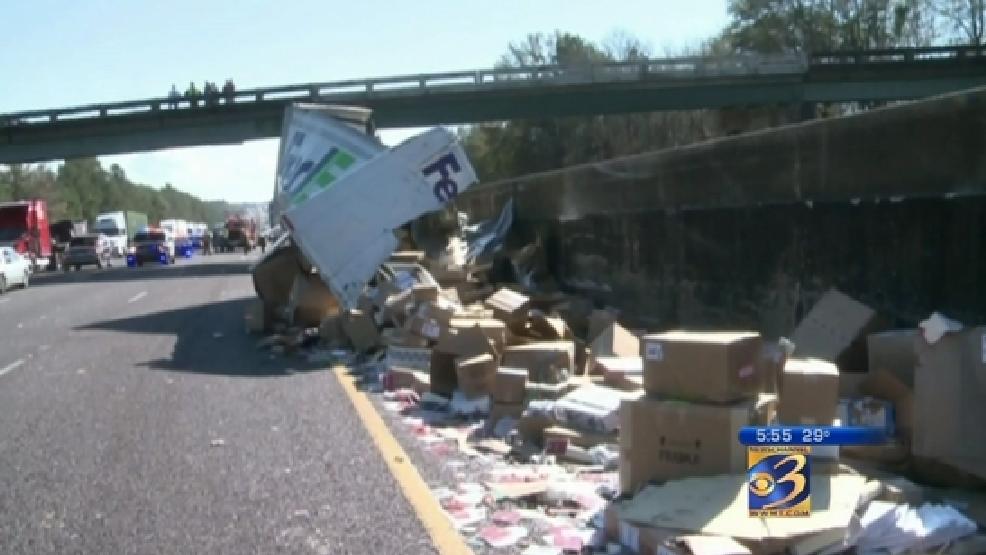 FedEx truck crash destroys Christmas presents   WWMT
