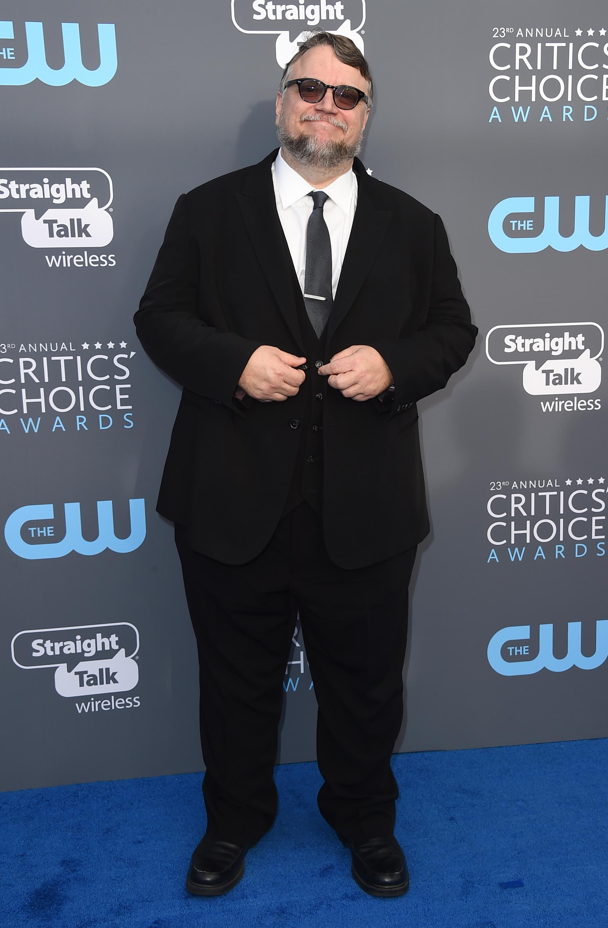 Guillermo del Toro arrives at the 23rd annual Critics' Choice Awards at the Barker Hangar on Thursday, Jan. 11, 2018, in Santa Monica, Calif. (Photo by Jordan Strauss/Invision/AP)